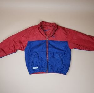 Red and Blue Nike windbreaker jacket sz L